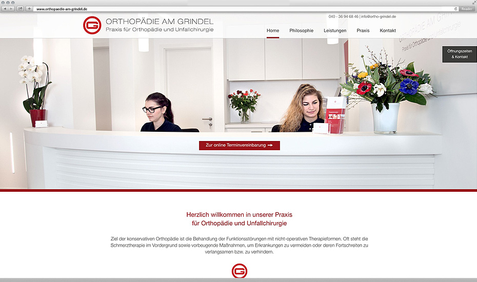 orthopaedie hamburg webdesign
