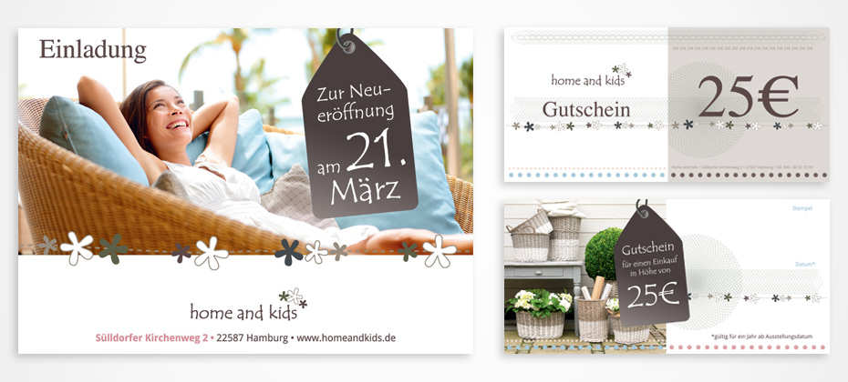 design home and kids flyer