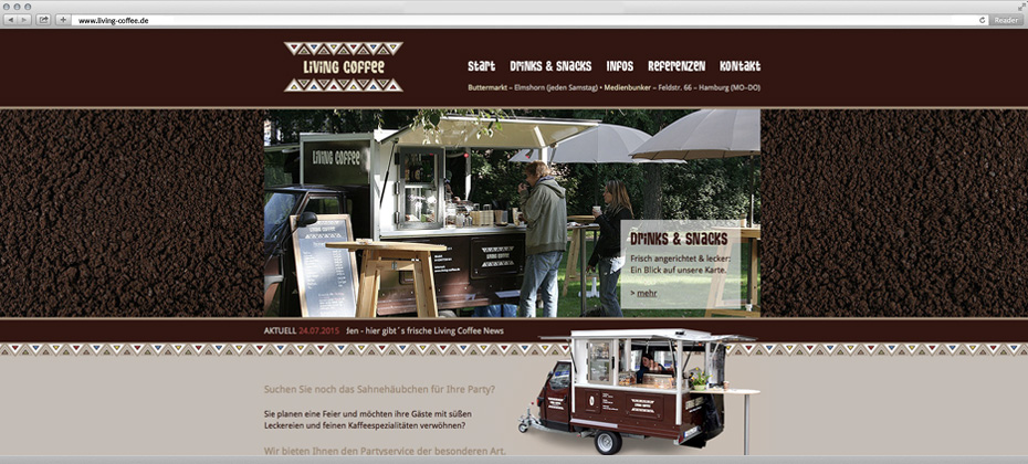 living coffee webdesign elmshorn hamburg